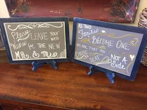 Custom Chalkboards With Easels