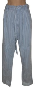 Marc by Marc Jacobs Slouchy Baggy Striped Trouser Pants Blue/white
