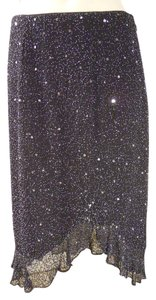 Scala Beaded Evening Skirt black