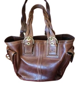 Coach Tote in Whiskey/Chestnut