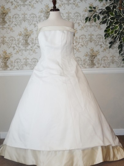 Forever yours ivory taupe wedding dress on sale 81 off for Forever yours wedding dress