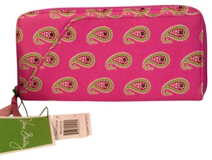 Vera Bradley Bermuda Pink Travel Organizer Pink Green Paisley Clutch New Retired Travel Bag