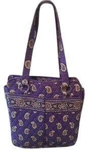 Vera Bradley Paisley Quilted Key Chain Tote in Purple