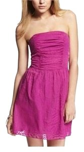 Express short dress Pink Strapless on Tradesy