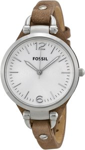 Fossil Fossil Women's ES3060 Georgia Three Hand Tan Leather Strap Watch