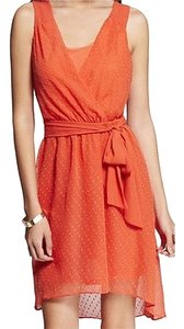 Express short dress Orange on Tradesy