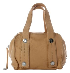 Chanel Tan Leather Square Ch.j0309.08 Brown Satchel