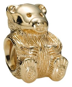 PANDORA RARE RETIRED PANDORA TEDDY BEAR CHARM 14K