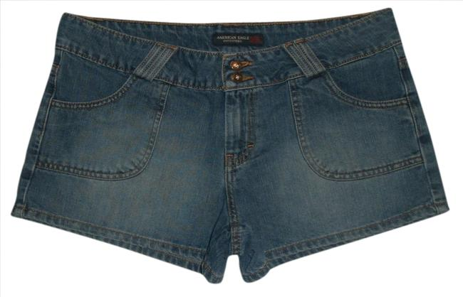 American Eagle Outfitters Zip Fly *back Flap Pockets *cotton/Poly *machine Washable *style: 3474. *cut: 11965m Mini/Short Shorts Blue