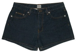 Calvin Klein Classic 5 Pocket Style *zip Fly Cotton *machine Washable Mini/Short Shorts Blue