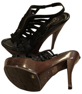 Jessica Simpson Black/Brown Pumps