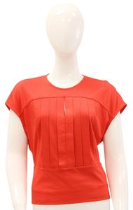 3.1 Phillip Lim Pleated Cap Sleeve Top Coral, Red