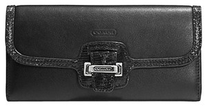 Coach F50612 TAYLOR LEATHER SLIM ENVELOPE WALLET BLACK