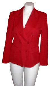 Classiques Entier Wool Double Breasted Red Blazer