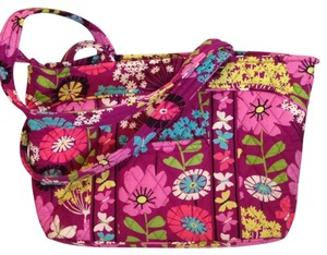 Vera Bradley Flutterby Large Large Mandy Large Mandy Pink Floral Tote in Purple Pink