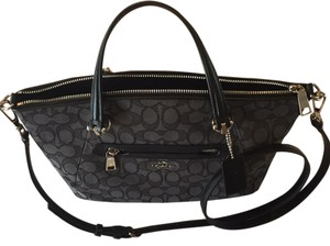 Coach Satchel in Black and Smoke
