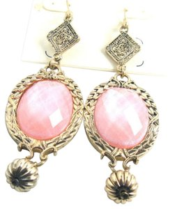 Cato Cato Earrings 3 in. Long Dangle Pink Gold J1941