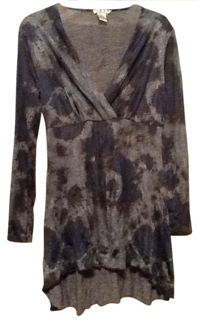 Alberto Makali short dress Blue and grey on Tradesy