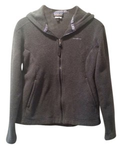Patagonia Gray Synchilla Hooded Fleece Zip Jacket