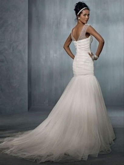 Alfred Angelo White See Description 2298 Formal Wedding Dress Size 8 ...
