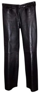 Hudson Jeans Leather Boot Cut Pants black