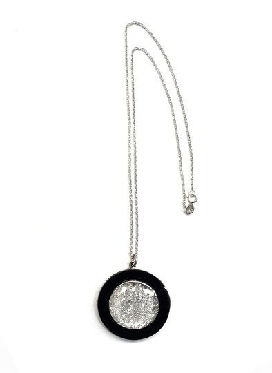 moritz glik Moritz Glik Floating Diamond Pendant in 18K White Gold With Black Onyx
