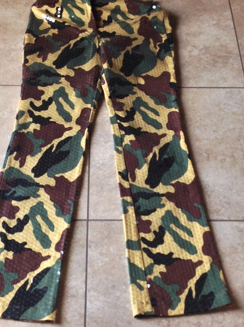 Domallo Straight Pants Sequin camo