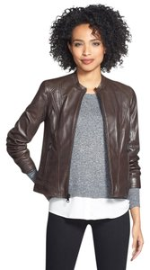 Marc New York Espresso M Medium Brown Leather Jacket