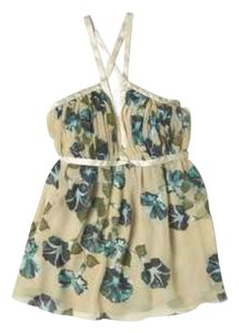 Alberta Ferretti Floral Georgette Blouse Top cream