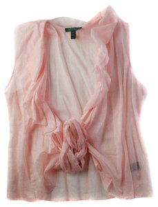Lauren Ralph Lauren Wrap White Top Pink