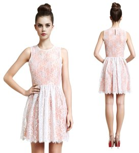 Erin Fetherston Metallic Fit And Flare Flare Lace Dress