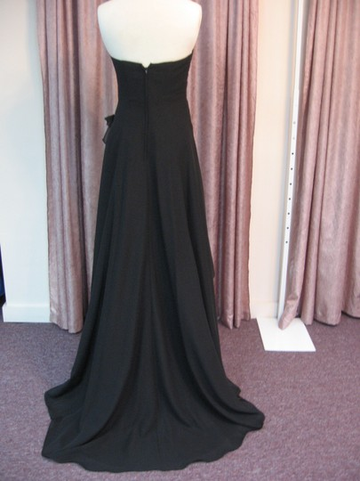 Pretty Maids Black Chiffon 22474 Formal Bridesmaid/Mob Dress Size 2 (XS)