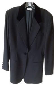 DKNY Tags Equestrian style, black with matching velvet collar Blazer