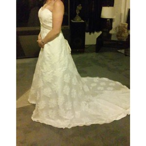 David's Bridal Strapless Wedding Gown Wedding Dress