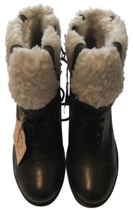 Diesel Black/ shearling Boots