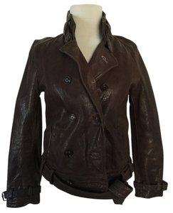 Madewell Motorcycle Buckle Brown Leather Jacket