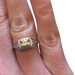 Diamond ring 14k setting solid