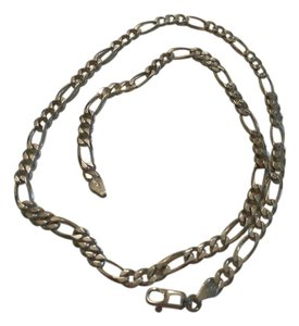NEW UNISEX ITALY Sterling Silver Figaro Chain 18 ' 15.8 GRAMS