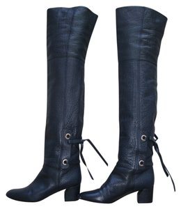 Casadei Over-the-knee navy Boots