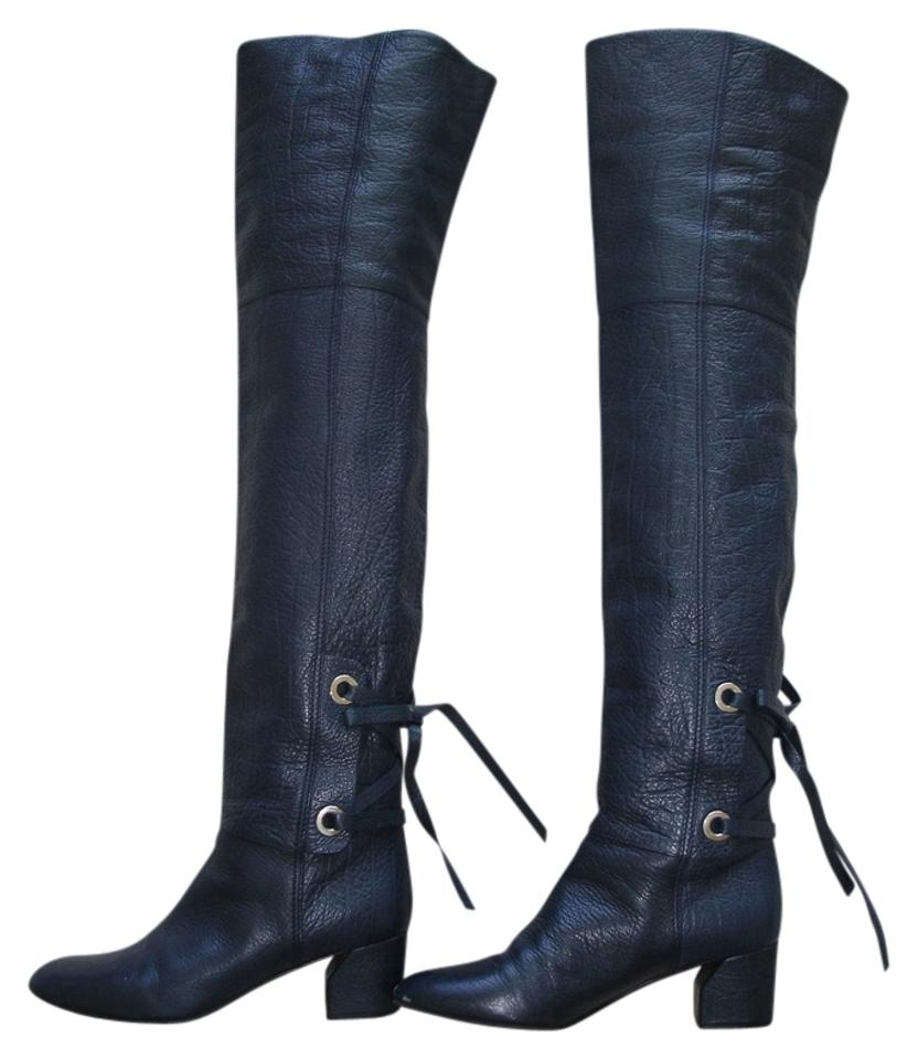 Casadei Boots/Booties Navy Over The Knee Boots/Booties Casadei 10e081