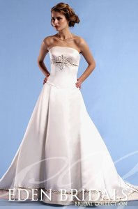 Eden White 2228 Wedding Dress Size 10 (M)