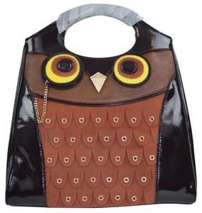 Kate Spade Owl Leather Tote in brown