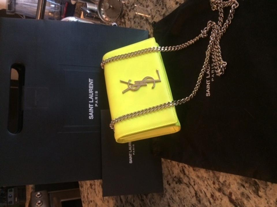 fd98caf352 Saint Laurent Neon Yellow/Green Leather Shoulder Bag - Tradesy