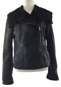 Express Faux Fur Motorcycle Jacket