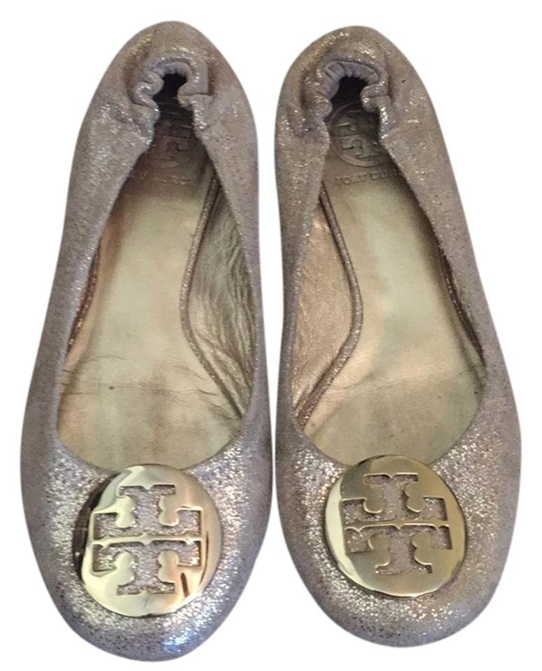 dad475d9dc815 Tory Burch Gold Reva Pebbled Metallic Leather Ballet Flats Size US 7  Regular (M, B) 45% off retail