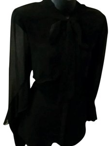 MM Couture Button Down Shirt black