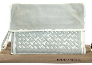 Bottega Veneta light gray Clutch