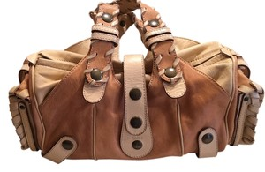 Chloé Made In Italy Genuine Leather Brass Studs Shoulder Bag