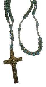 Other NEW BEAUTIFUL NECKLACE ROSARY NO TAGS SILVER CROSS