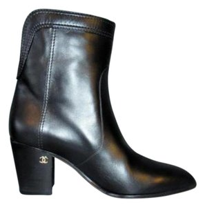 Chanel 15a Leather Black Boots
